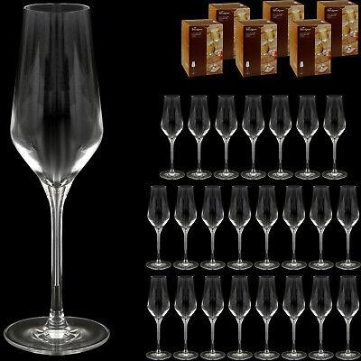 24 Stück Sektgläser aus Kristallglas (spülmaschinenfest) Champagnerglas Sektglas