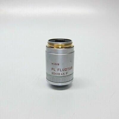 Leica 556015 Pl Fluotar 20x0.45 P 08 Microscope Objective Lens