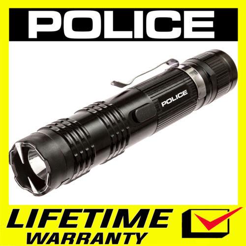 POLICE Stun Gun M12 650 BV Heavy Duty Metal Rechargeable LED Flashlight Black