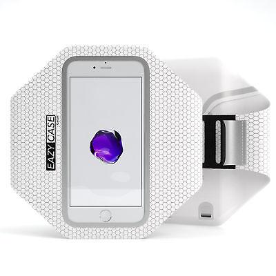 Universal Sport Handy Armtasche Jogging Smartphone Fitness Arm Band Weiß