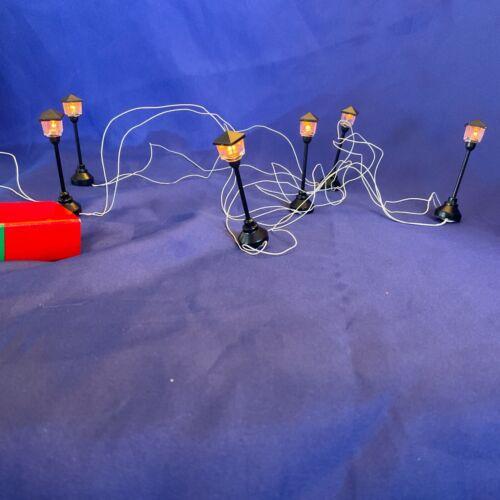Dept 56 Christmas Village Street Lights Set Of 6 Working Lights