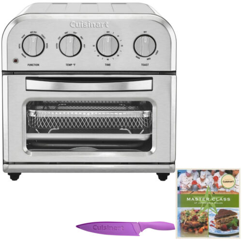 Cuisinart TOA-28 Compact AirFryer Toaster Oven with Knife an