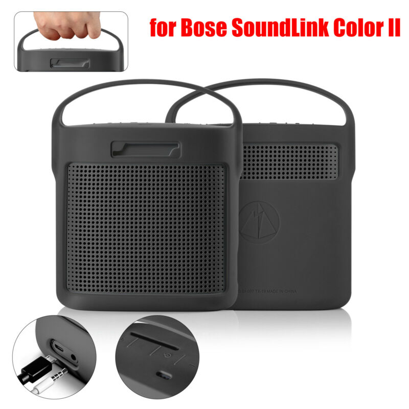 Travel Carry Protect Bag Silicone Cover Case for BOSE SoundLink Color II Speaker