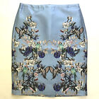 Silk Blend Straight, Pencil Floral Skirts for Women