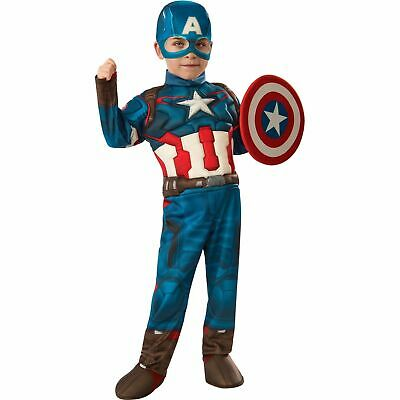 Avengers Age Of Ultron Captain America Costume (Avengers Age of Ultron Captain America Toddler Muscle Costume PLUS SHIELD)