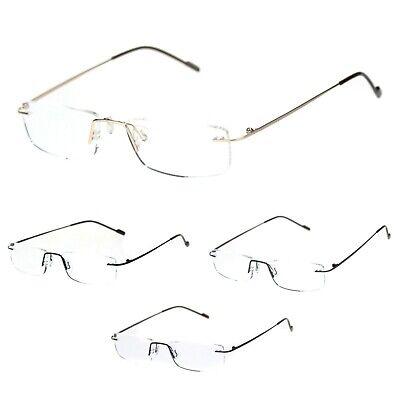 Rimless Rectangular Clear Super Light Weight Reading (Lightweight Rimless Glasses)