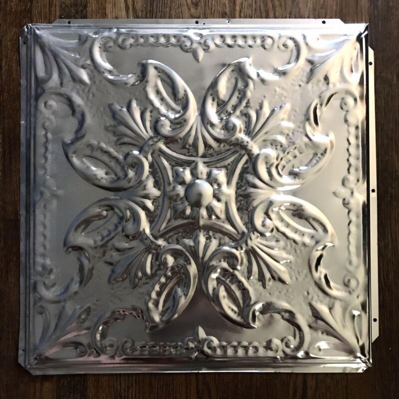 "Vintage Versaille Pattern Tin ceiling Tiles 24"" X 24"" Square Panel"