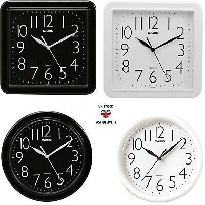 Casio Wall Clock Square/Round Shpe Decorartion Analouge Home Bedroom Kitchen Kid