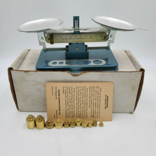 Vintage Pelouze Scale R-47 Grams Weights With Box and Manual.