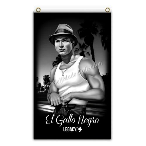El Gallo Negro Blood In Blood Out 3ftx5ft flag banner limited edition chicano