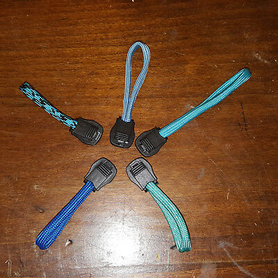 5 Pack Blue Paracord Zipper Pulls for Backpacks Jackets Lugg