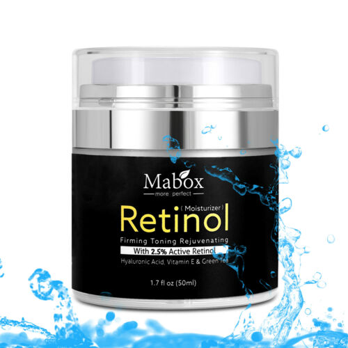 MABOX Retinol 2.5% Moisturizer VE&GreenTea Hyaluronic Acid A