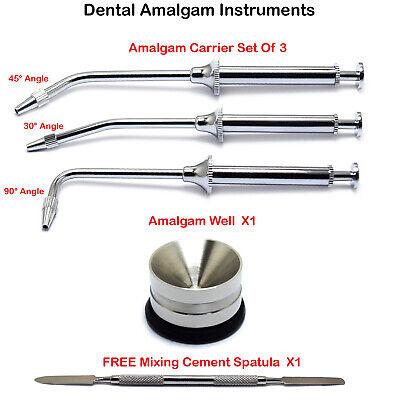 Dental Instruments Amalgam Carrier Well Pot Restorative Mixing Cement Spatula