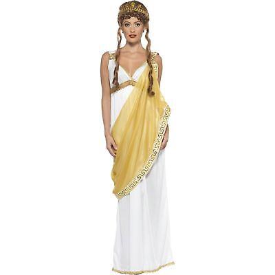 Roman Helen Of Troy Greek Goddess Myths Womens Ladies Fancy Dress Costume