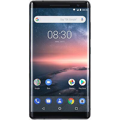 NOKIA 8 Sirocco, Smartphone, 128 GB, Schwarz