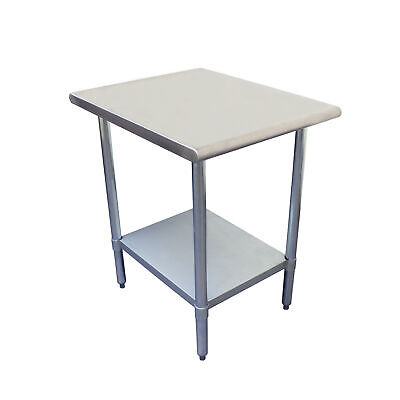 Thunder Group 24 X 24 X 35 430 Stainless Steel Worktable Flat Top Ea
