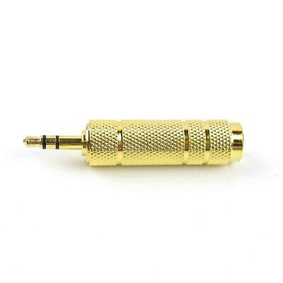 Gold Plated 3.5mm 1/8Inch Male to 6.5mm 1/4Inch Female Stereo Audio Jack