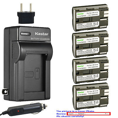 Kastar Battery and Normal Charger Kit for Canon BP-511 511A EOS 5D PowerShot G6
