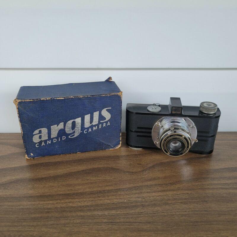 Vintage 1940s Argus AF IRC Film Candid Camera Anastigmat f/4.5 Lens w/ Box