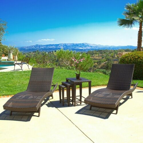 Lakeport 5p Outdoor Adjustable Chaise Lounge Set Furniture