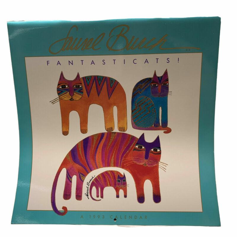 Cats Wall calendars Laurel Burch: Fantasticats 1993 Rare Vintage New Unused