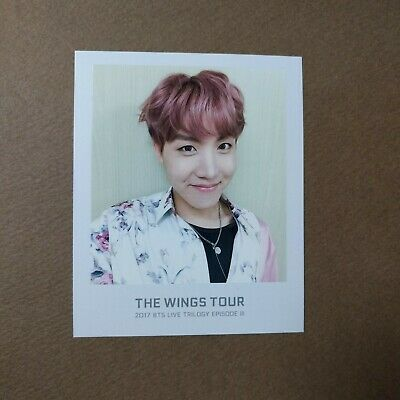 [Official] The Wings Tour Trilogy Ticket Polaroid Photocard [J HOPE]