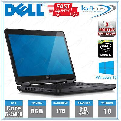 """DELL E5440 Laptop Windows 10 CORE i7 4th GEN 8GB RAM 1TB HDD 14"""""""