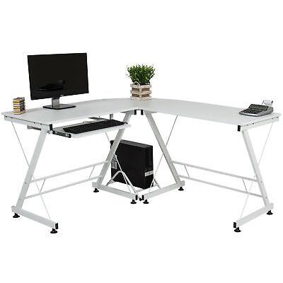 Wood Keyboard Drawer - Large Wood Corner L Shape Office Computer Desk Table Keyboard Drawer Workstation