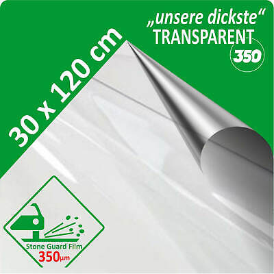 Lackschutzfolie universal transparent klar durchsichtig 350 µm dick 30 x 120 cm