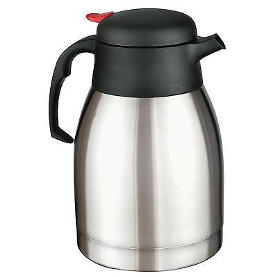 Isolierkanne 1,5 L Isolierflasche Thermoskanne Teekanne Iso Kafeekanne Edelstahl