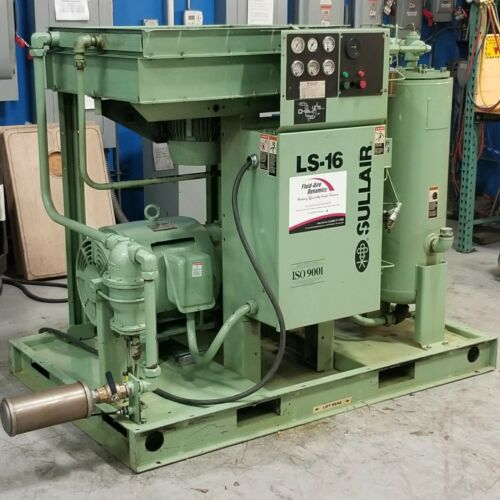 Used Sullair LS-16 75 HP Rotary Screw Air Compressor Very Clean