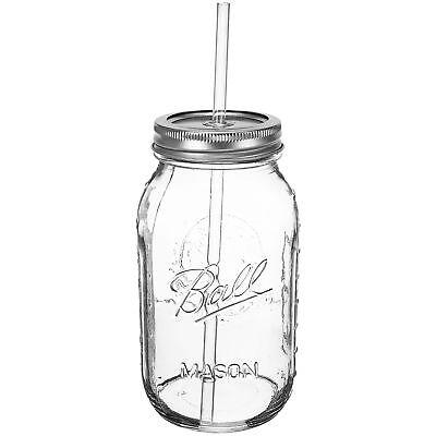 REDNECK GUZZLER SIPPIN' JAR 32 oz Mason Jar w/ Acrylic Straw and Straw Lid Funny