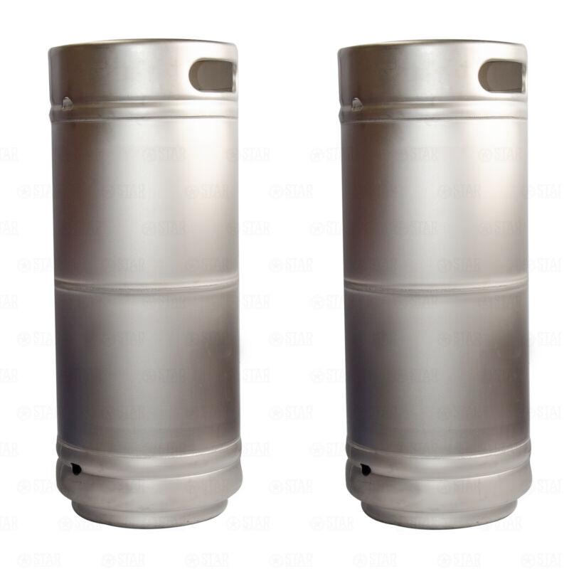 (X2) 1/6 Barrel Stainless Steel 5.16 Gallon Beer Kegs Sankey D Spears Sixtel
