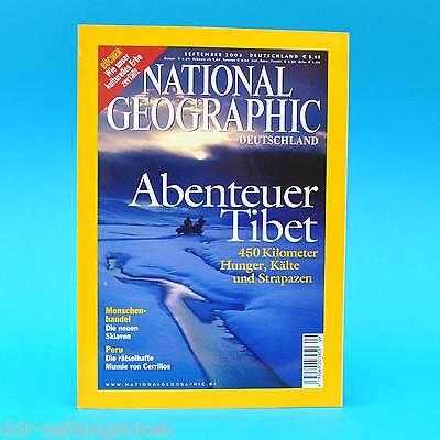 National Geographic September 2003 Menschenhandel Aquarius Büchersterben Mumien