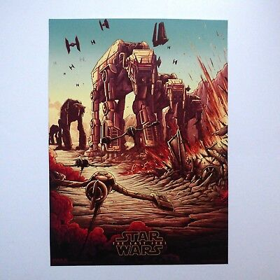 Star Wars: The Last Jedi IMAX Poster TIE Fighter AT-AT Skimmers A4+