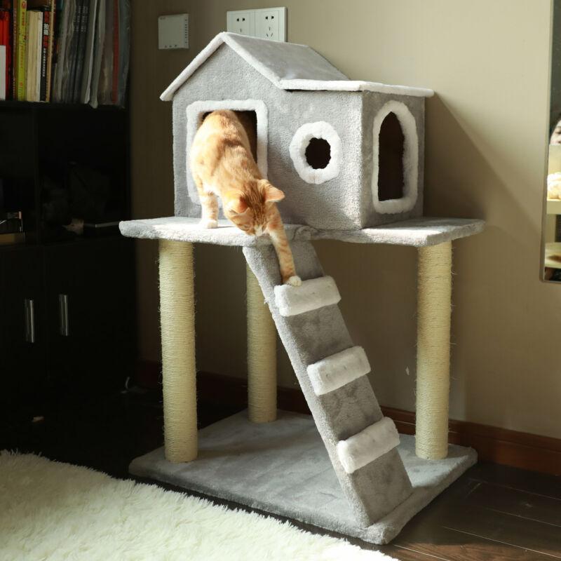 Kratzbaum Katzenkratzbaum Kletterbaum Katzenbaum Kratzmöbel für Katzen Sisal🌞Stabile Struktur🌞Top Qualität🌞Perfekter Spielraum