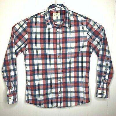 Marine Layer Button Down Shirt Plaid Long Sleeve Sz S Small Mens