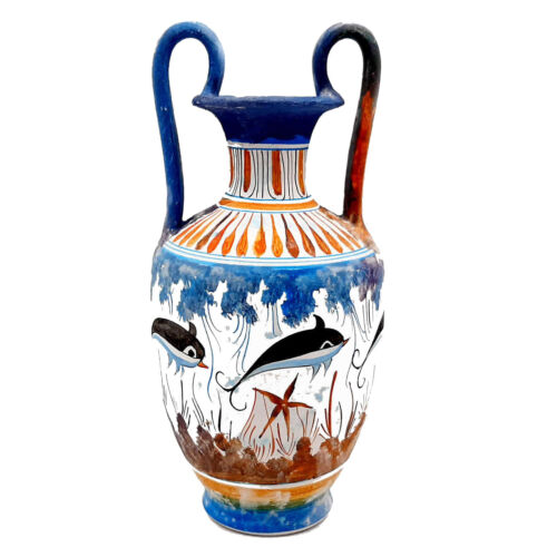 Greek Cretan Vase 25cm,Minoan Art Pottery,Ancient Greece