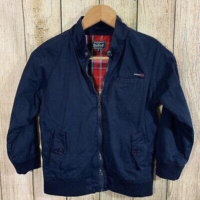 Woolrich Boys 100% Cotton Zipper Front Jacket Sz 8 Blue
