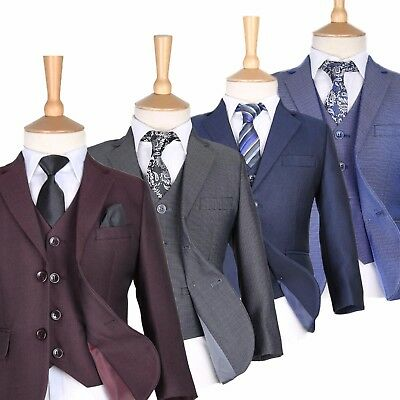 Boys Burgundy Suits Boy Blue Wedding Suit Pageboy Suits Kids Formal Grey Suits