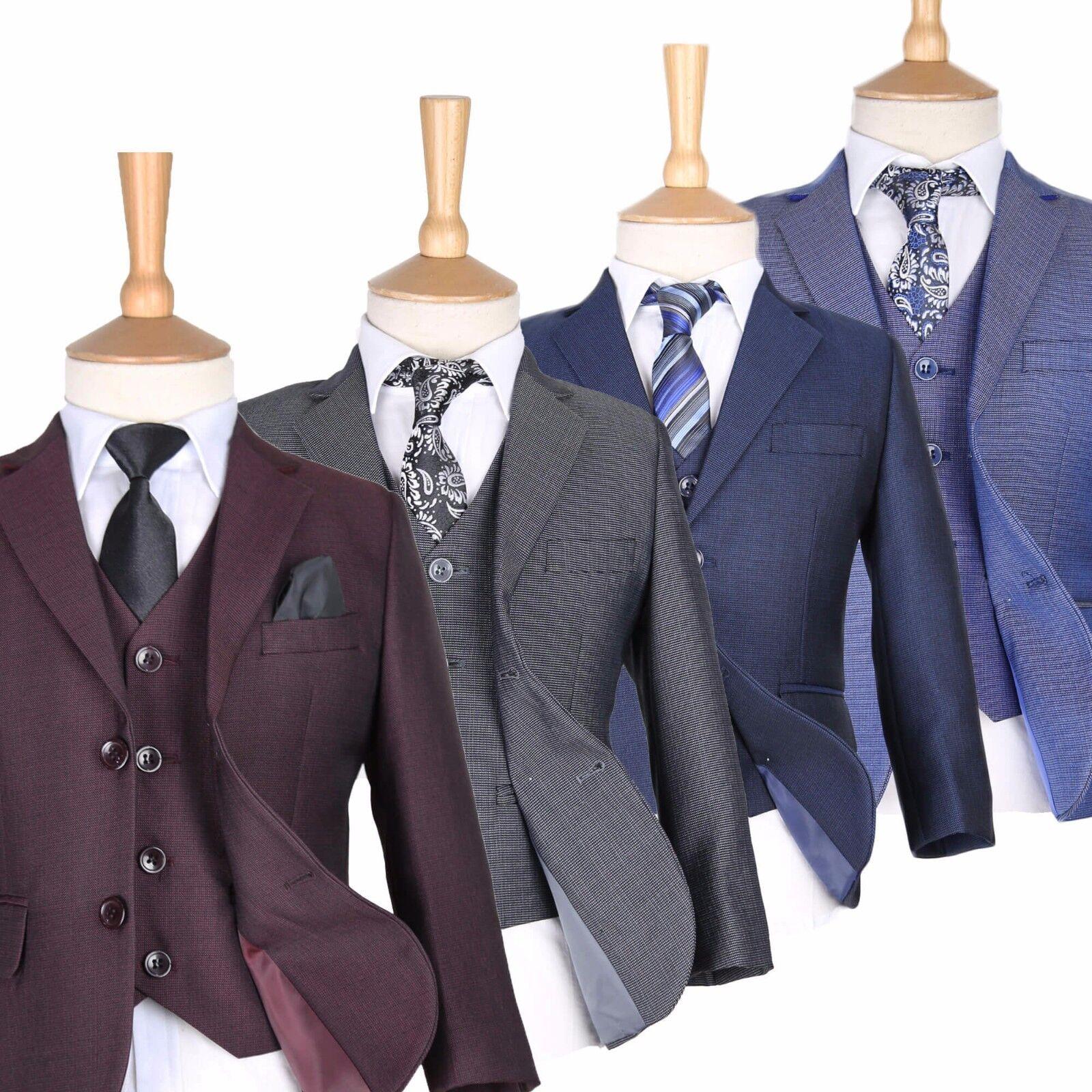 Boys Burgundy Suits Boy Blue Wedding Suit Pageboy Suits Kids ...