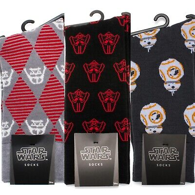 Star Wars Men's Dress Socks - BB8, Darth Vader - One Size Fits Most