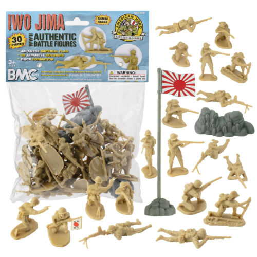 BMC WW2 IWO JIMA Japanese Imperial Soldiers Tan Plastic Japan Army Men Figures