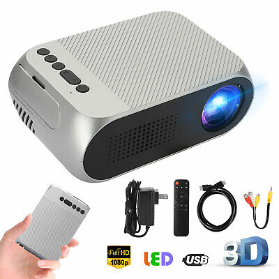 1080p Full HD Movie Projector Multimedia Home Theater Cinema