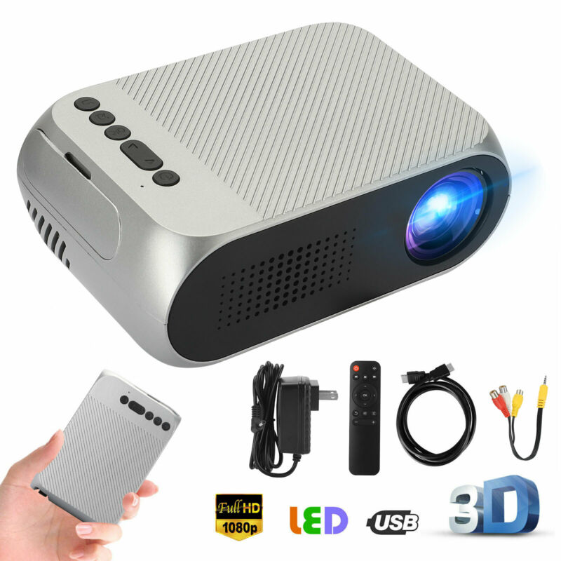1080p Full HD Movie Projector Multimedia Home Theater Cinema w/HDMI/VGA/USB Port