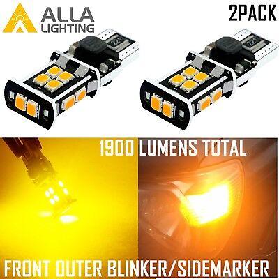 Alla Lighting 14-LED Front Outer Turn Signal Light Bulb,Side Blinker Lamp Yellow