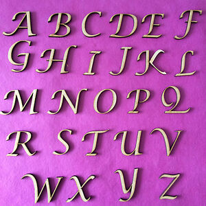 WOODEN MDF LETTERS & NUMBERS IN CALLIGRAPHY FONT SIZES 2-3-4-5-6-8 AND ...