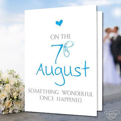 Personalised Anniversary Husband Wife Wedding Engagement Birthday Card Gift Idea