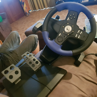 Logitech foot pedals and steering wheel