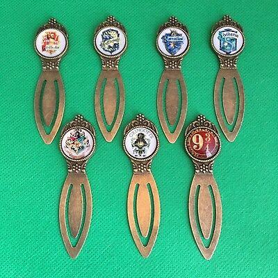 Harry Potter - Cabochon Metal Bookmark - Hogwarts Gryffindor Gringotts - NEW
